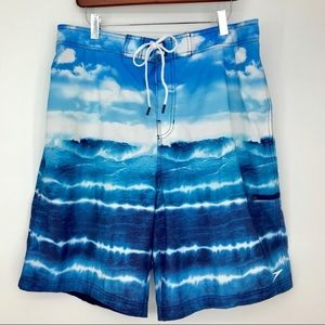 Speedo Swim Trunks Board Shorts XL Hawaiian Waves